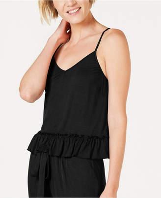 INC International Concepts Inc Ultra Soft Knit Ruffle Flounce Pajama Top