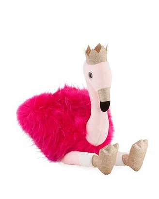 Histoire d'Ours Stuffed Flamingo Toy with Crown, 32""