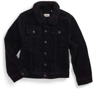 AG Adriano Goldschmied kids Brody Plush Collar Corduroy Jacket Collar