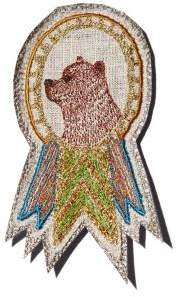 Coral & Tusk Bear Embroidered Badge