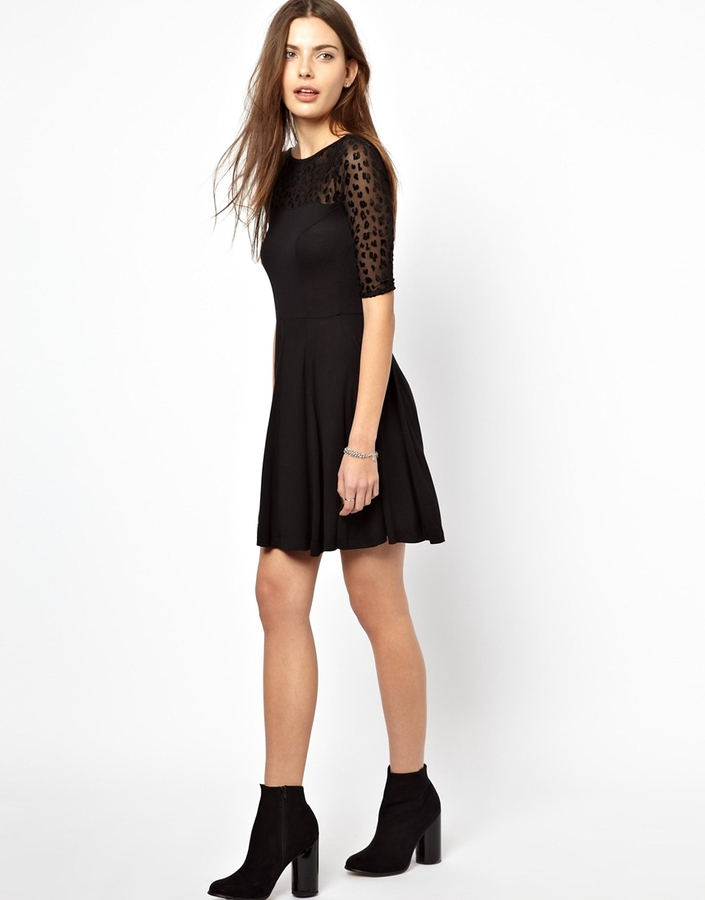French Connection Mini Simba Evening Dress