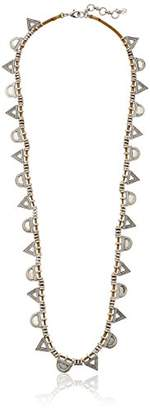 Lucky Brand Leather and Triangle Necklace