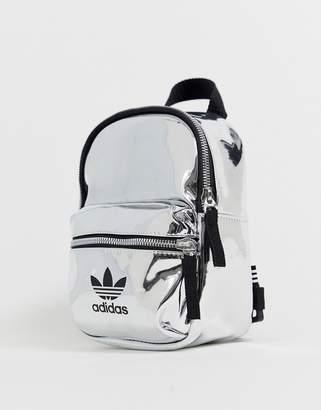 adidas trefoil logo irridescent mini backpack