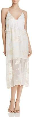 Elliatt Concert Embroidered Chiffon Dress