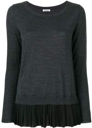 P.A.R.O.S.H. pleated hem jumper