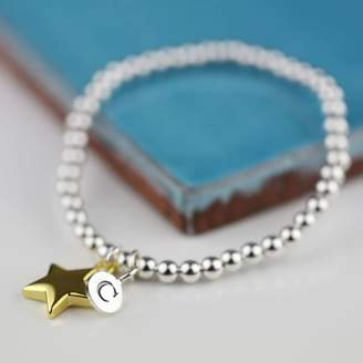 Nest Personalised Mia Gold Star Bracelet