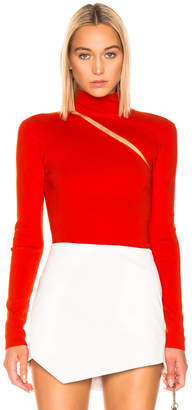 Dion Lee Lingerie Hook Turtleneck Sweater in Vermillion | FWRD