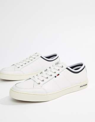 Tommy Hilfiger core leather sneaker in white