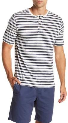 Weatherproof Short Sleeve Stripe Henley