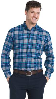 Izod Men's Regular-Fit Plaid Flannel Easy-Care Button-Down Shirt