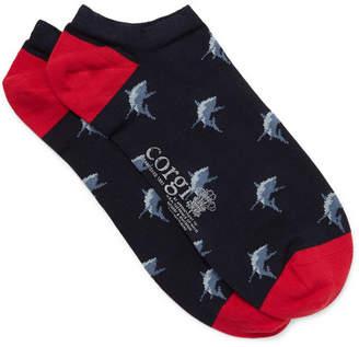 Corgi Intarsia Cotton-Blend Socks