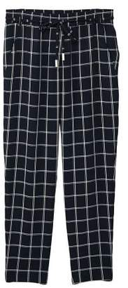MANGO Check baggy pants