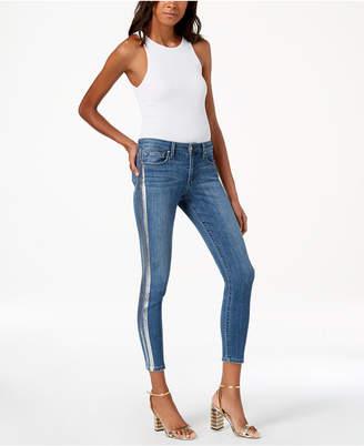 Joe's Jeans The Icon Metallic-Stripe Ankle Skinny Jeans
