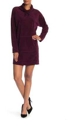 Max Studio Long Sleeve Kangaroo Pocket Dress