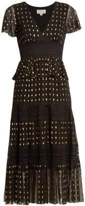 Temperley London Wondering lace-insert fil coupé chiffon dress