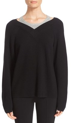 Women's T By Alexander Wang Layered Merino Wool Pullover $275 thestylecure.com