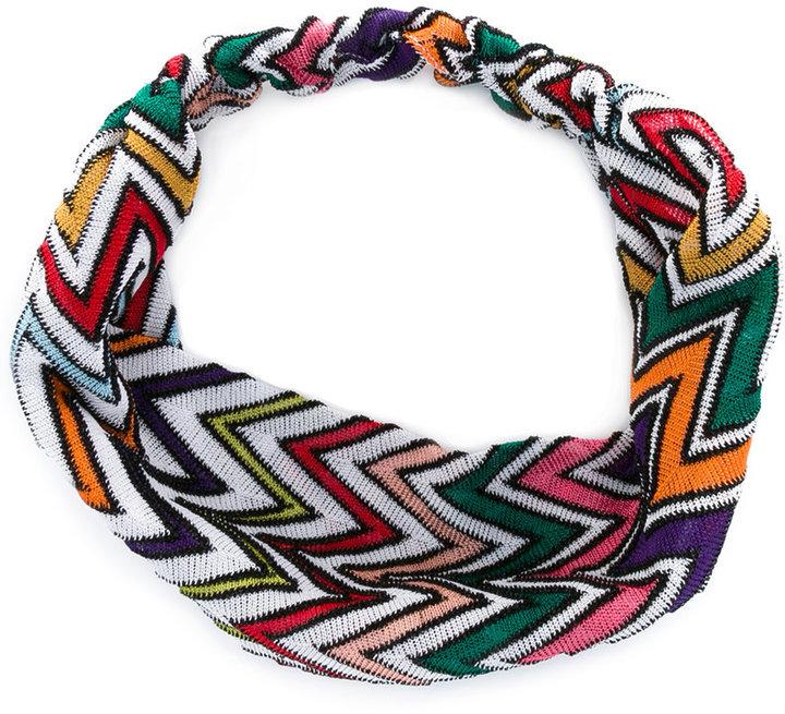 MissoniMissoni zigzag knitted hairband