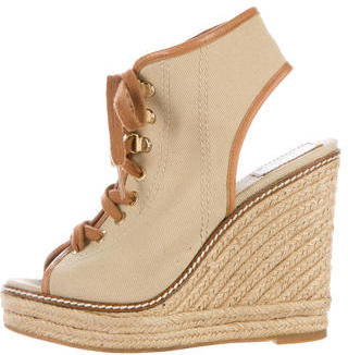 Tory Burch Tory Burch Lace-Up Espadrille Wedges
