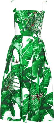 DOLCE & GABBANA Banana leaf-print embellished dress $7,745 thestylecure.com