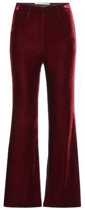 Roland Mouret Exclusive to mytheresa.com – Connor velvet and crêpe trousers