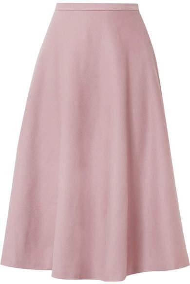 Max Mara - Cabras Camel Hair Midi Skirt - Pink
