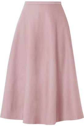 Max Mara Cabras Camel Hair Midi Skirt - Pink