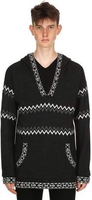 Diesel Black Gold Hooded Alpaca & Wool Knit Sweater