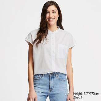 Uniqlo Women's Extra Fine Cotton Short-sleeve Shirt (online Exclusive)