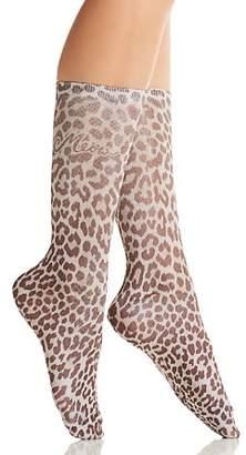 Kate Spade Classic Leopard Print Crew Socks