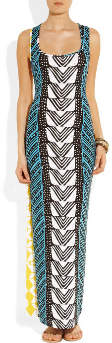 Mara Hoffman Luau printed stretch-jersey maxi dress