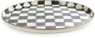 Mackenzie Childs Courtly Check Enamel Round Tray (36cm)