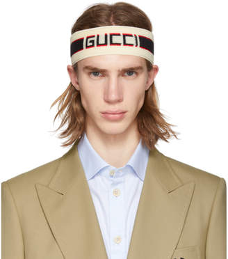 9da3f720e35 Gucci Off-White Headband and Wristband Set