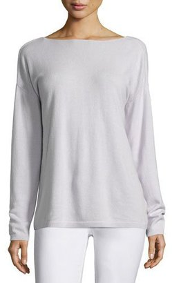 Lafayette 148 New York V-Back Cashmere Sweater, Light Purple $398 thestylecure.com