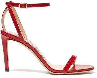 Jimmy Choo Minny 85 Patent Leather Sandals - Womens - Red