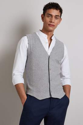 Grey Textured Waistcoat