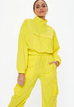 Missguided Yellow Overhead Crop Jacket
