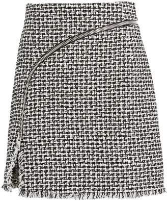 Alexander Wang Zip Tweed Mini Skirt