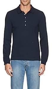 Massimo Alba Men's Cotton Piqué Polo Shirt - Blue