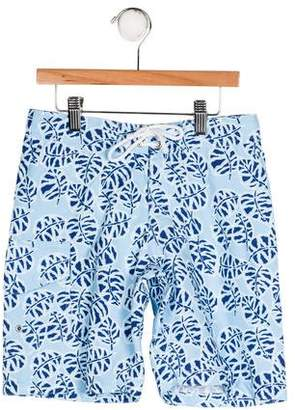 Oscar de la Renta Boys' Printed Swim Shorts w/ Tags
