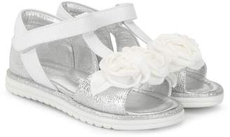 MonnaLisa rose T-bar sandals