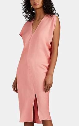 Zero Maria Cornejo Women's Laila Asymmetric Midi-Dress - Guava