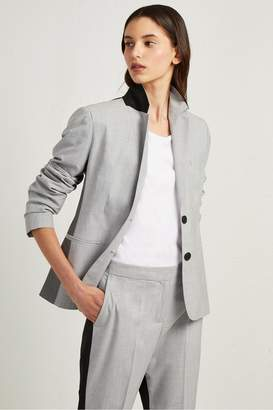 French Connenction Color Block Suiting Fitted Blazer