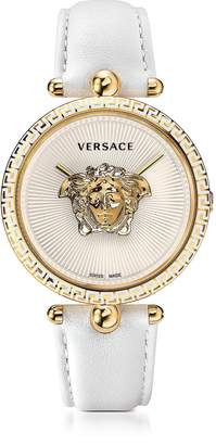 Versace Palazzo Empire White and PVD Plated Gold Women's Watch w/3D Medusa