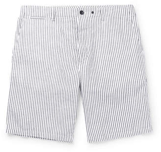 Rag & Bone Beach Short II Striped Cotton and Linen-Blend Shorts