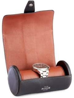 Genuine Leather Double Watch Travel Roll