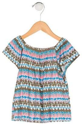 Imoga Girls' Printed Short Sleeve Top