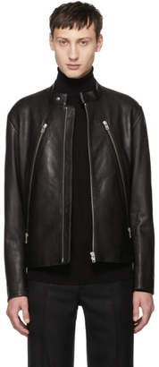 Maison Margiela Black 5-Zip Leather Jacket