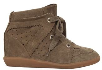 Etoile 80mm Bobby Suede Wedge Sneakers $540 thestylecure.com