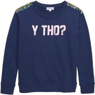 Ten Sixty Sherman Y Tho? Sequin Sweatshirt