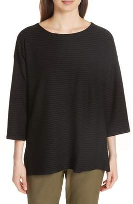 Eileen Fisher Boxy Jacquard Knit Top